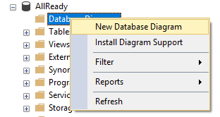 Context Menu When Clicking on a Database in the SSMS Object Explorer