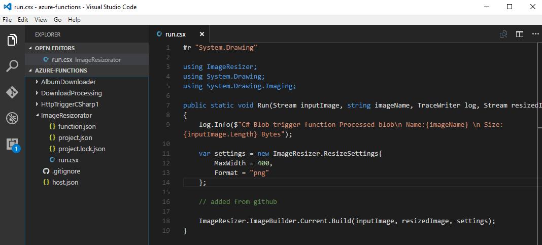 Editing functions in Visual Studio Code